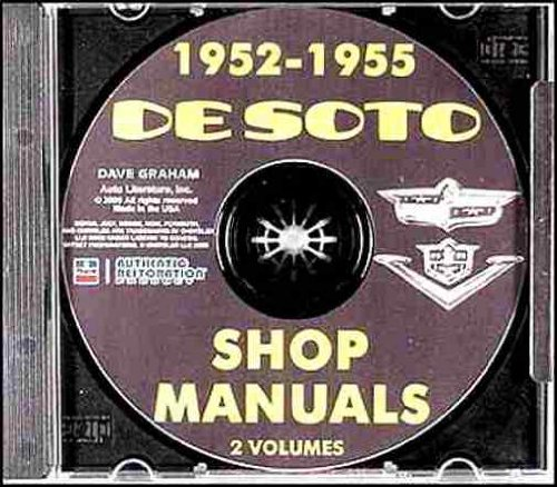 1952 1953 1954 1955 DeSOTO REPAIR SHOP & SERVICE MANUAL & BODY MANUAL CD INCLUDES: Firedome S-16, Powermaster S-18, sedan, club coupe, S-19, S-20, S-21, and S-22, Fireflite, Sportsman, Coronado, ()