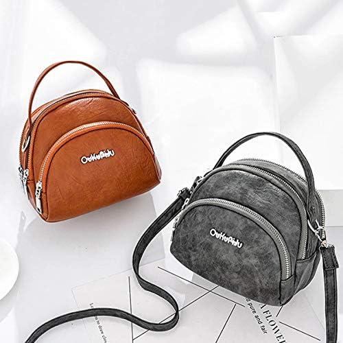 女性のフェイクレザーミニ電話袋マルチスロットレトロクロスボディバッグ YZUEYT