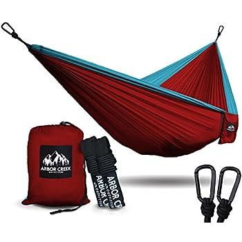 Amazon Com Xl Double Camping Hammock Heavy Duty And