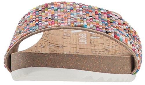 Anne Klein Femmes Idolize Stretch Wedge Sandale Étain Multi Tissu