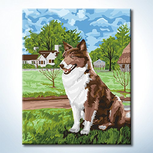 Diy oil aintings Paint By Numbers Kits Dog Paintworks diy by yourself