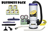 ProTeam Super CoachVac HEPA Commercial Backpack Vacuum w/ Versatile Tool Kit & 2 pc wand, 10 quart 50 bags EXTRA
