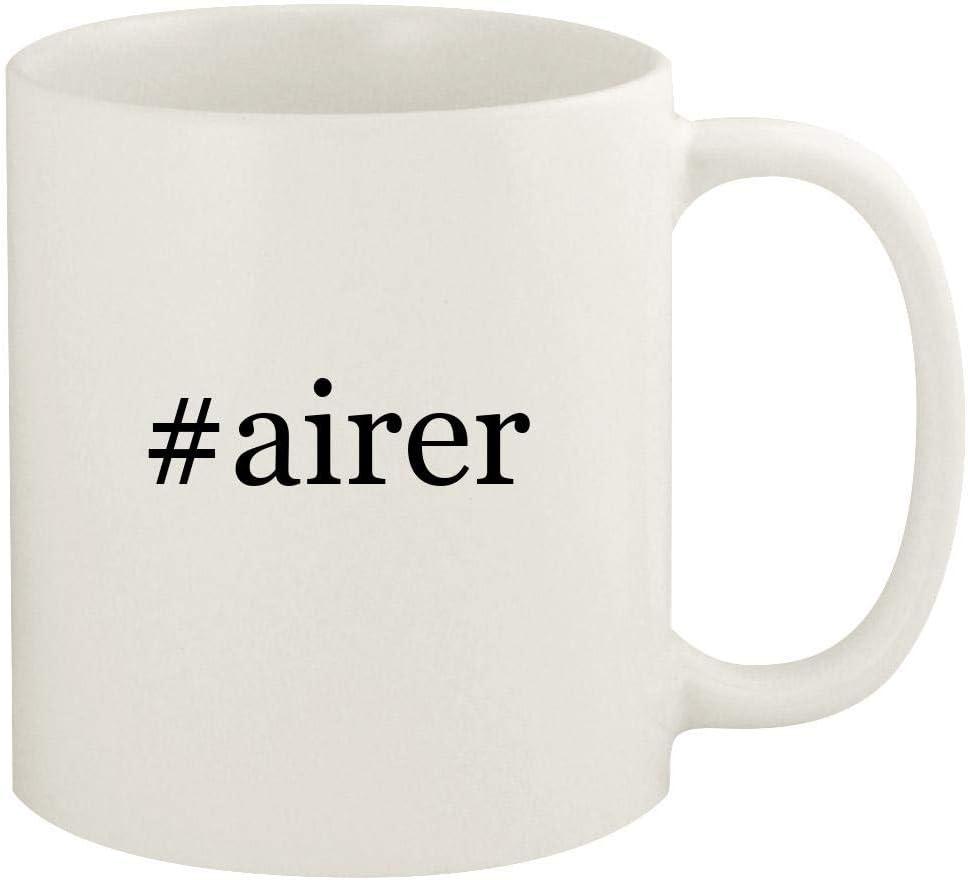 #airer - 11oz Hashtag Ceramic White Coffee Mug Cup, White