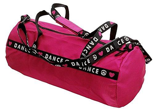 "Capezio B81 - Bolsa de deporte, diseño con texto ""Dance"" rosa hot pink Talla:talla única rosa - hot pink"