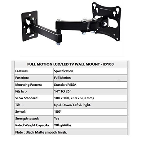 Ideal Wall Mount Stand For 14 To 26-Inch Tv/Monitors (Black) by Ideal (Image #3)