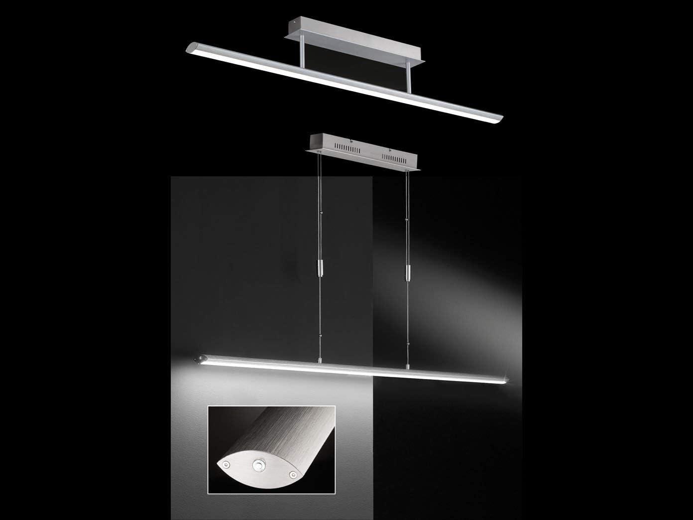 Aluminium//Mattnickel Fischer /& Honsel Beat Pendelleuchte