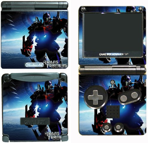 Transformers Optimus Prime Autobots Video Game Vinyl Decal Skin Sticker Cover for Nintendo GBA SP Gameboy Advance System