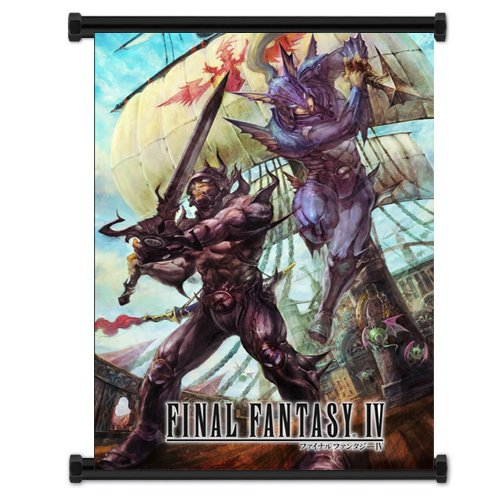 Final Fantasy IV Game Fabric Wall Scroll Poster  Inches