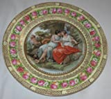 RS Prussia Diana with Cupid Antique Plate ES PROV SAXE