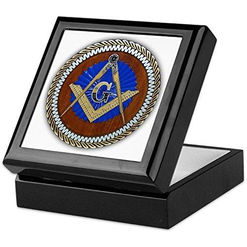 CafePress - Masons - Keepsake Box, Finished Hardwood Jewelry Box, Velvet Lined Memento Box