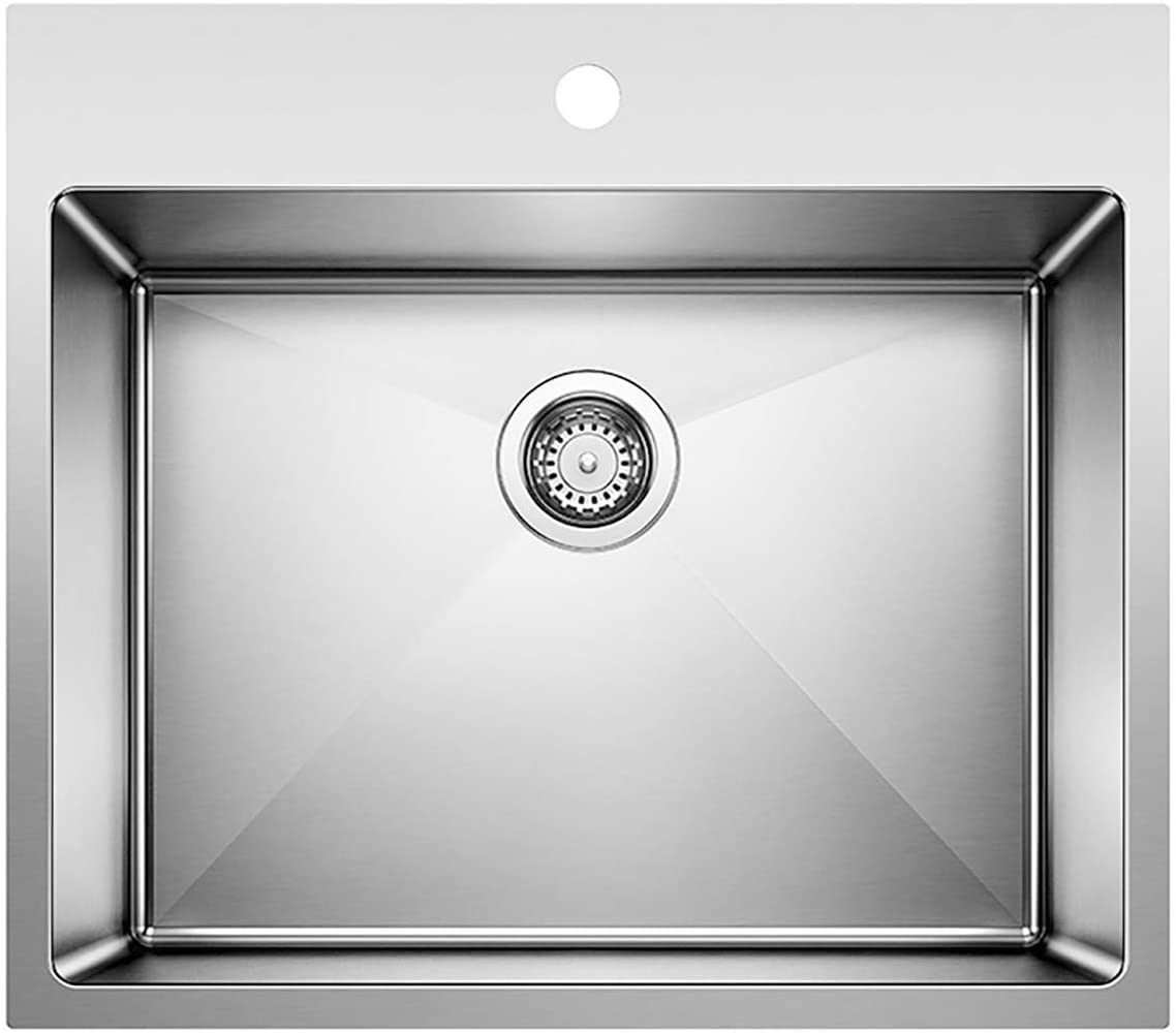 BLANCO 522136 QUATRUS R15 Drop-In or Undermount Laundry Sink, Stainless Steel