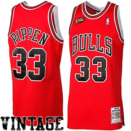 best service a7367 0e9b5 Image Unavailable. Image not available for. Color  Mitchell   Ness Scottie  Pippen 1997-98 Chicago Bulls Authentic Road Red Jersey