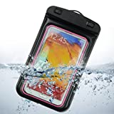 z10 full housing - SumacLife Waterproof Pouch Case for Samsung Galaxy Note 3 / Samsung Galaxy Note 2 / Galaxy S4 / HTC One M7 / LG G2 (Pink and Black)