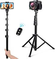 UBeesize 54-inch Selfie Stick Tripod, Detachable and Extendable Phone Tripod for Cell Phone, Compatible with iPhone and Andr