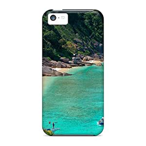 Special CalmCases Skin Case Cover For Iphone 5c, Popular Lovely Beach Phone Case