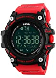 Clearance Men's Multifunctional Fitness Digital Sport Watch with Bluetooth Calorie Pedometer, 5ATM Waterproof (Red)