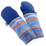 mimiTENS Classic Long Sleeve Warm Winter Mittens (Size 3-4, Navy) by mimiTENS