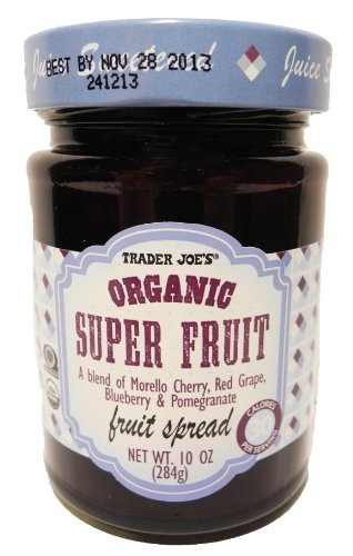 Trader Joe's Organic Super Fruit A Blend of Morella Cherry, Red Grape, Blueberry & Pomegranate Fruit Spread (Organic Grape Jam compare prices)