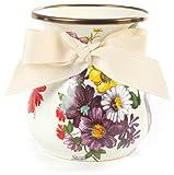 Mackenzie-Childs Flower Market Enamel Vase Short - White