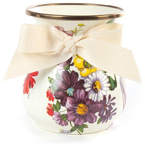 Mackenzie-Childs Flower Market Enamel Vase Short - White by MacKenzie-Childs (Image #1)