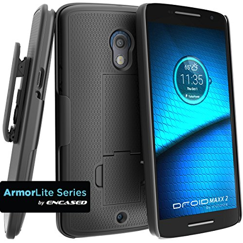 Motorola DROID MAXX 2 Combo Case + Belt Clip Holster for Verizon XT1565 (By Encased)