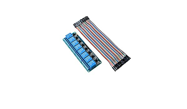 DAOKI 5Pcs NRF24L01 Adapter Module NRF24L01 8 Pin Socket Breakout Adapter 3.3V Regulator Plate Board with Dupont Cable