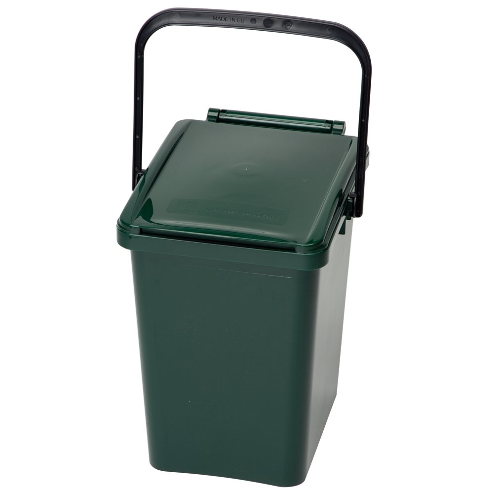 10 Litre Urba Kitchen Food Waste Caddy - Moss Green Wormcity 10 litre caddy - MG
