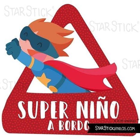 Bebé a Bordo - Súper niño a bordo- triángulo adhesivo de ...