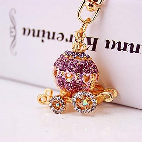 Amazon.com: Lindo Mini Carroza de Cenicienta de diamante ...