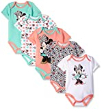 Apparel : Disney Baby Girls' Minnie Mouse 5 Pack Bodysuits