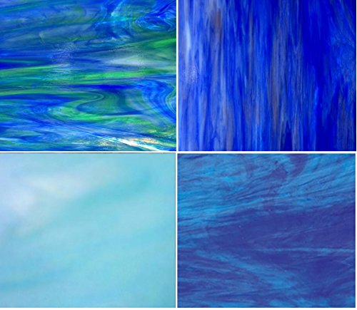 BLUE Wissmach Stained Glass Pack by Sun and Moon Stained Glass
