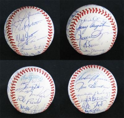 de7cda972 1982 Milwaukee Brewers Team-signed Baseball 29 sigs - Autographed Baseballs  at Amazon s Sports Collectibles Store