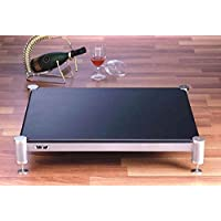 BL Series Audio Amplifier Stand (3 in. w Oak Shelf and Silver Spike)