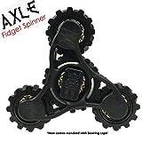 Fidget Spinner- AXLE - by DESTROYER Brands - Fidget Toy, Anxiety Toy, Stress Relief (black) Destroyer Brands