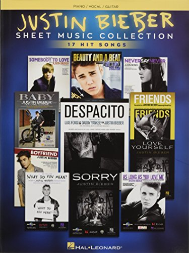 Justin Bieber - Sheet Music Collection: 17 Hit Songs (Pvg Book Sheet Music)