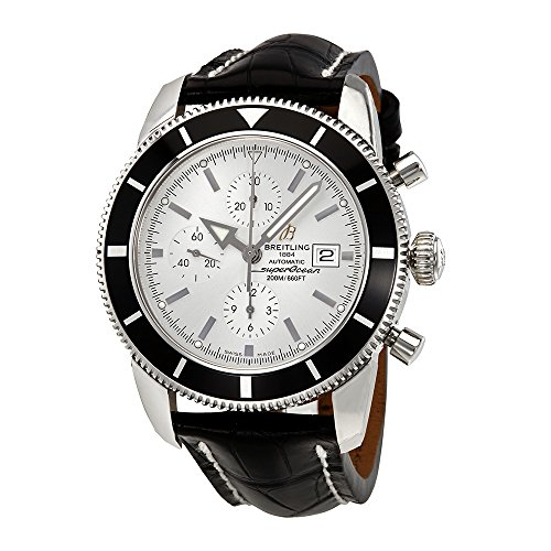 Breitling Superocean Heritage Chronographe 46 Silver Dial Mens Watch A1332024-G698BKCT