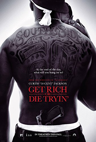 GET RICH OR DIE TRYIN MOVIE POSTER 2 Sided ORIGINAL FINAL 27x40 50 CENT