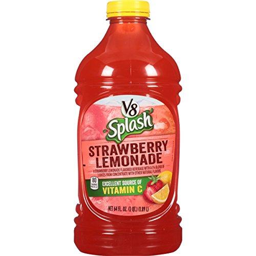 V8 Splash Strawberry Lemonade, 64 oz. Bottle (Pack of (Strawberry Splash)