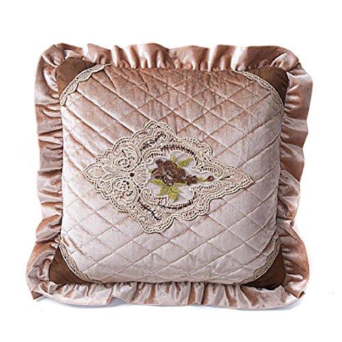 Ikevan Hot Selling European-style Luxury Retro Square Pillowcase Velvet Soft Pillow Case Sofa Waist Throw Cushion Cover Home Decor (18