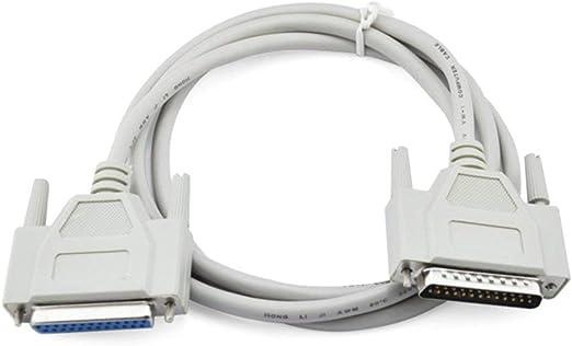 Hehilark - Cable alargador de Cable de Impresora LPT Paralelo DB25 ...