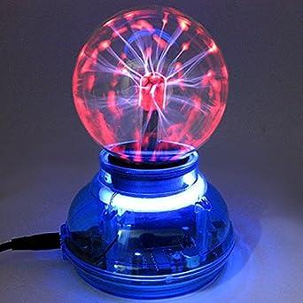 3 Inches Plasma Ball Sphere Lightning Light Magic Desktop Kids Child Party Decorative