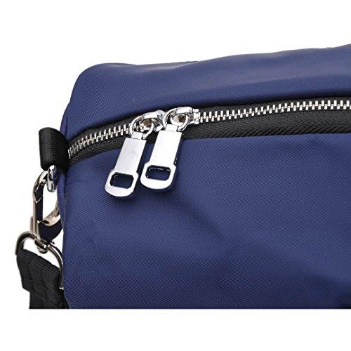 Multi Pocket Shoulder Bag Corss-body Purse Waterproof Nylon Travel Handbags for Women Fashion Waterproof Bag (Blue) by DIYNP (Image #5)