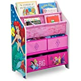 Disney Princess Book and Toy Organizer, Meets All Safety Standards Set by CPSC, 19.88 Inches Long x 10.43 Inches Wide x 26.77 Inches High, Pink/Blue