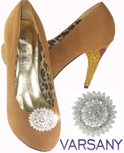 Pearl Spiral Flower P17 Shoellery Shoe Clip On Bling for sale  Delivered anywhere in Canada