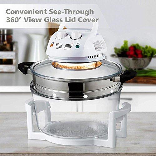 NutriChef Halogen Cooking Convection Oven Air Fryer