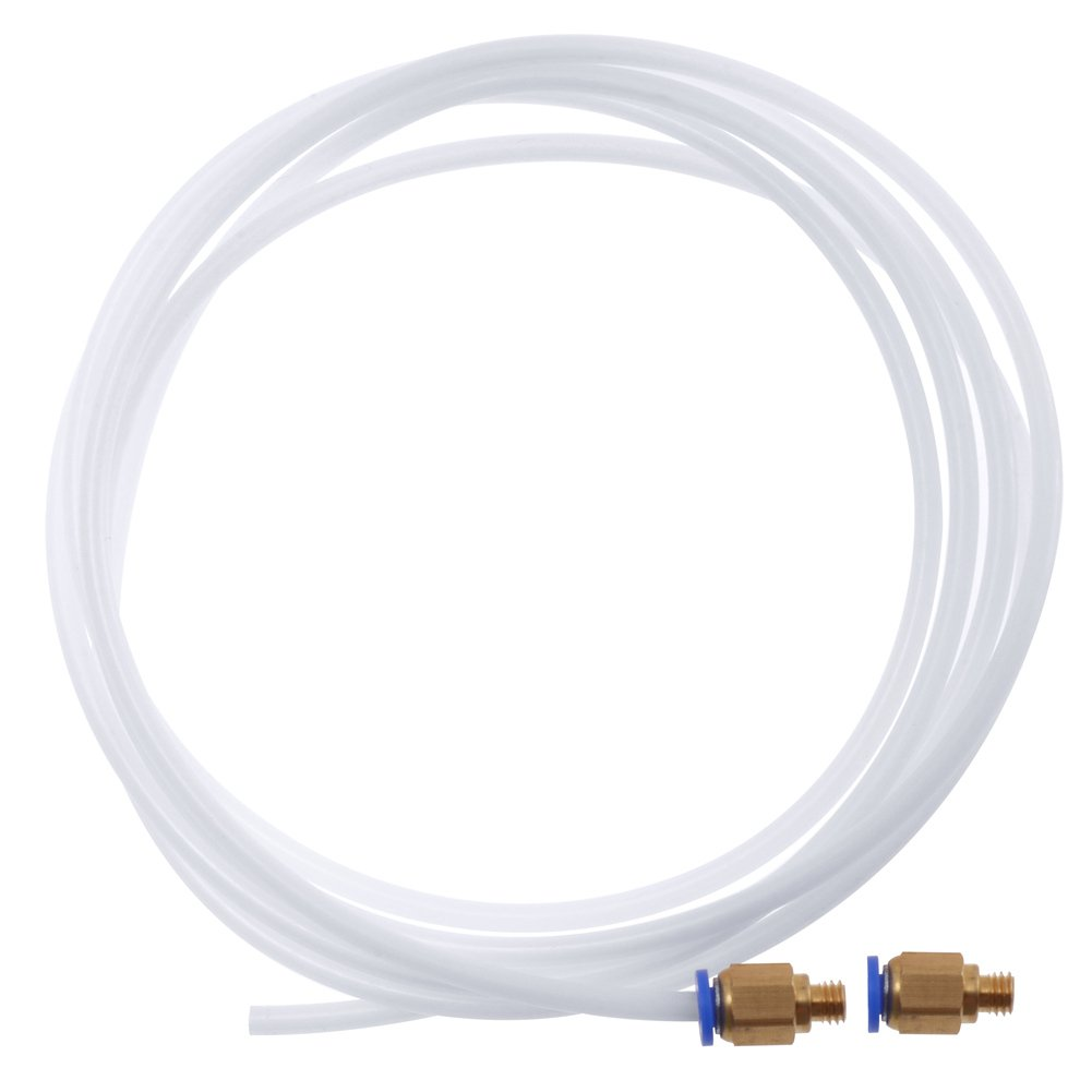 PChero 1 Stü ck PTFE Teflon Bowdenrohr (6, 6 ft) mit 2 Stü ck PC4-M6 Push-in-Fittings fü r 3D-Drucker 1, 75 mm Filament iS020