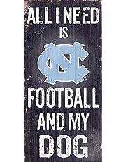 Fan Creations Dog Sign University of North Carolina Football, Multicolored