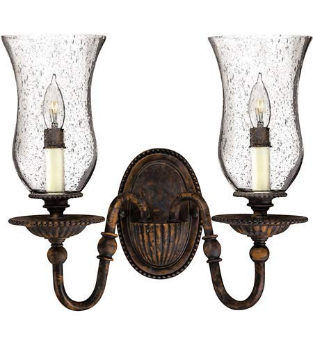 Wall Sconces 2 Light Fixtures with Forum Bronze Finish Hand-Painted Metalwork Material Candelabra 14