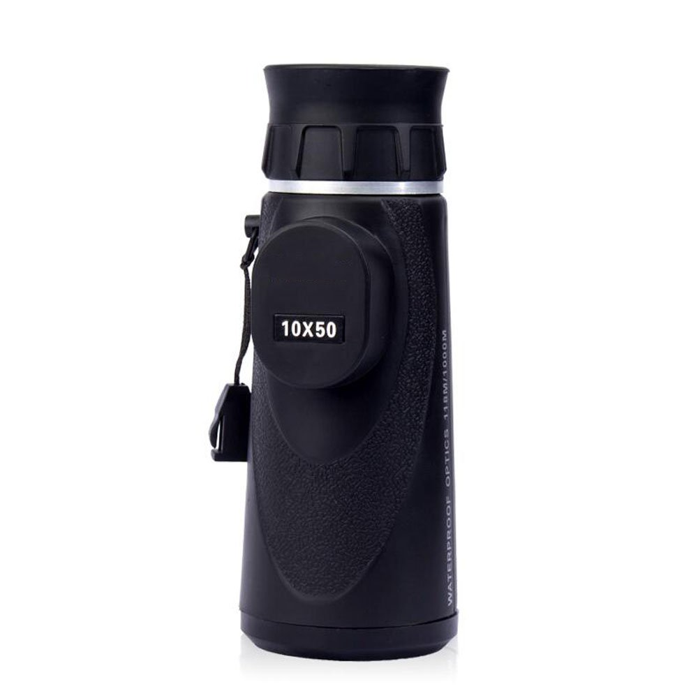 RYRYBH Ultra Clear 10x50 Bifocal Optics Amplify Monocular, Daytime Vision, Birds/Wildlife/Hunting/Camping/Hiking (Black) Telescope