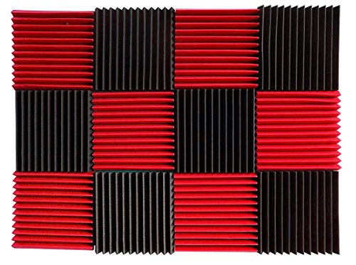 12-pk-1x12x12-red-charcoal-acoustic-panels-soundproofing-foam-acoustic-tiles-studio-foam-sound-wedge